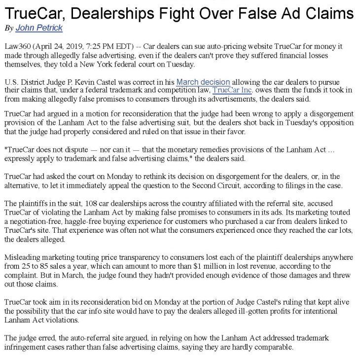 News & Events: Dealer Law - Bellavia Blatt and Crossett, PC