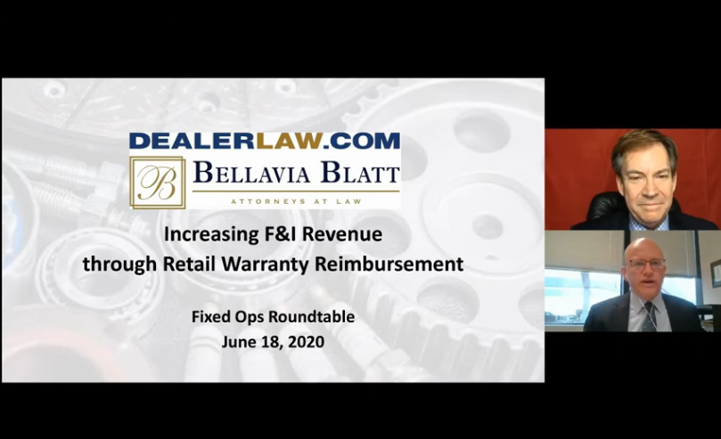 Retail Warranty Reimbursement